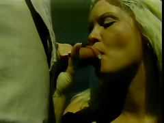 Blonde hottie kneels to suck cock then bends over for outdoor doggy style fuck