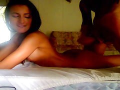 Nice homemade video with a gorgeous babe Amia Miley