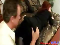 Busty redhead MILF gets it up the ass