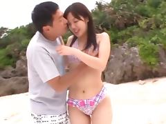 Asuka Shiratori gets unforgettably fucked on a beach
