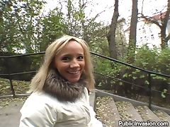 Beautiful Blonde Sucking a Cock Off and Having Sex in Public POV