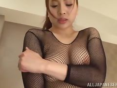 Ren Mukai sucks two dicks and gets stunningly fucked