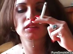 All, Blowjob, Brunette, Fetish, Smoking