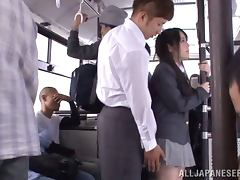 Nice Momoka Nishina gets teased right in the bus