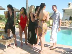 Miniskirt, Hardcore, Outdoor, Pool, Miniskirt