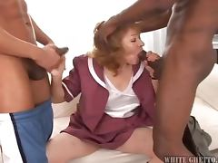 Grandma Gets Gangbanged and Creampie