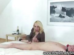 British femdom babes suck on cock