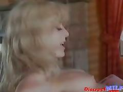 Hot blonde MILF have sex with husband