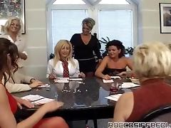 Big Crowd Of Horny Housewives Trying Numerous Cocks