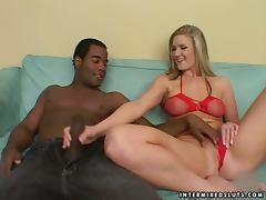 Nasty Blonde Bitch Gets Rooted Rough By A Black Bloke