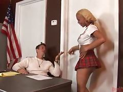 Shemale In Uniform Fucks A Guy In The Ass