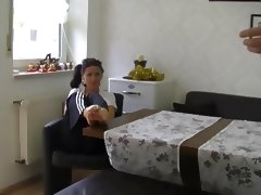 Brunette Fuked On Kitchen Table