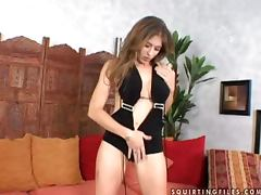 Felony Rogers plays with a vibrator with a cock in her cave