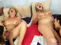 Lesbian Old and Young, Aged, Brunette, Granny, Hairy, Mature