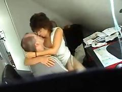 Mature brunette gets fucked by her husband in front of a hidden cam
