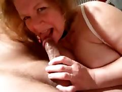 Hot granny sukcs cock and cum