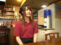 Blowjob and Sex in the Kitchen with Lovely Asian Teen