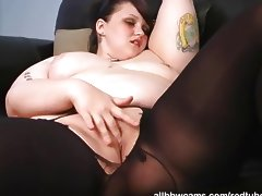 Milla masturbating while tipsy