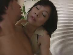 Mature Asian Wife Milking a Cock with Her Mouth after Getting Fingered