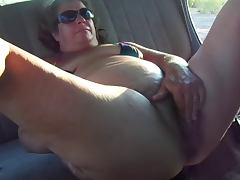 Fat granny masturbation
