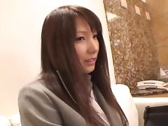 Yua Kisaki the Lovely Asian babe in black lingerie gets fucked hard
