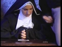 Uniform, Brunette, Cum, Cumshot, Nun, Sex