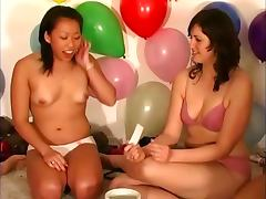 Dirty teen lesbos get nasty
