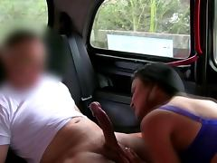 Euro blonde bends over in public for her driver