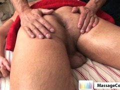 Massagecocks Shy Latino Massage