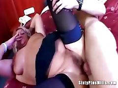 Plump granny fucked by gardener