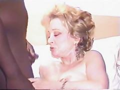 Mature wife takes BBC facials for hubby who films