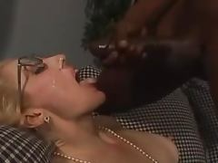 Mature blonde gets her holes ripped apart by a BBC