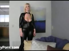 Huge boobed girl in latex