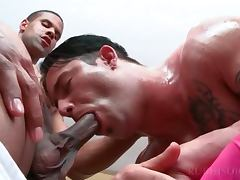 Gay anal sex with handsome masseur