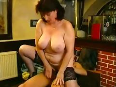 Big tit mature bar fun