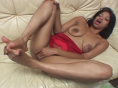 Ebony Girl Footjob 14