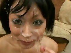 yuki mori is a slut who loves bukkake