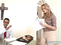Secretary Sandra Impresses Her Boss With Her Sex Skills