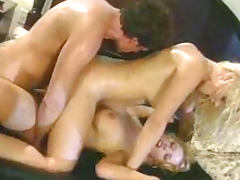 All, Bedroom, Blonde, Blowjob, Ffm, Threesome