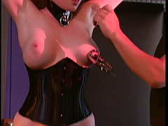 Big tits gal into Bondage and BDSM with her master