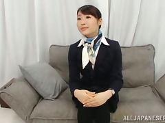 Stewardess, Couple, Cumshot, Hairy, Small Tits, Stewardess