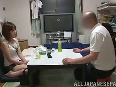 Slutty Minami Oshiro rides a dick and blows it in a bedroom