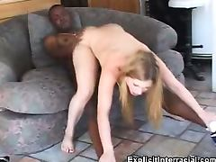 Small Tit Babe Rides That Black Cock