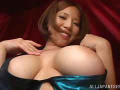 Big breasted Ruri Saijo gets fucked in her mouth