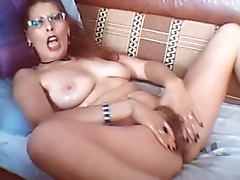 Mature redhead showing her pussy