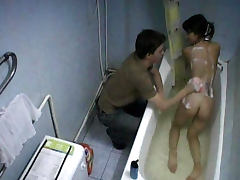 Boltik fucks slender brunette Lubina in the bathroom