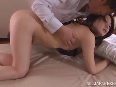 Kyoko Nakajima enjoys a hard cock in her tight Japanese pussy