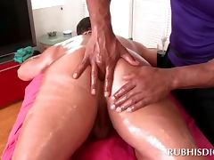 Butt massage scene with excited gays
