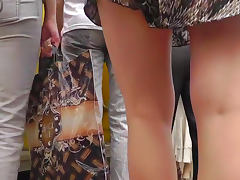 Some hot upskirts in the perverted voyeur video