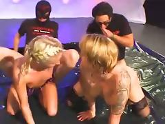 Horny german babes drink piss and fucked hard